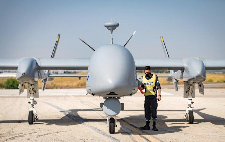 Một UAV Eitan (Heron TP) do Phi đội 210 vận hành, các UAV hiện đảm nhiệm phần lớn thời gian bay của IAF. Ảnh: Không quân Israel.