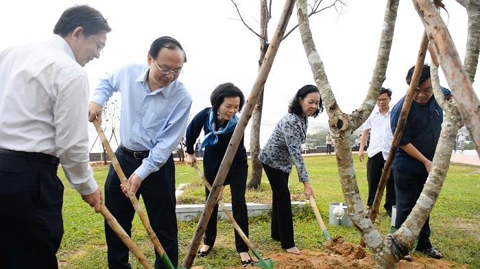 Vinamilk và Quỹ 1 triệu cây xanh cho Việt Nam trồng cây tại Bình Định vào năm 2019.