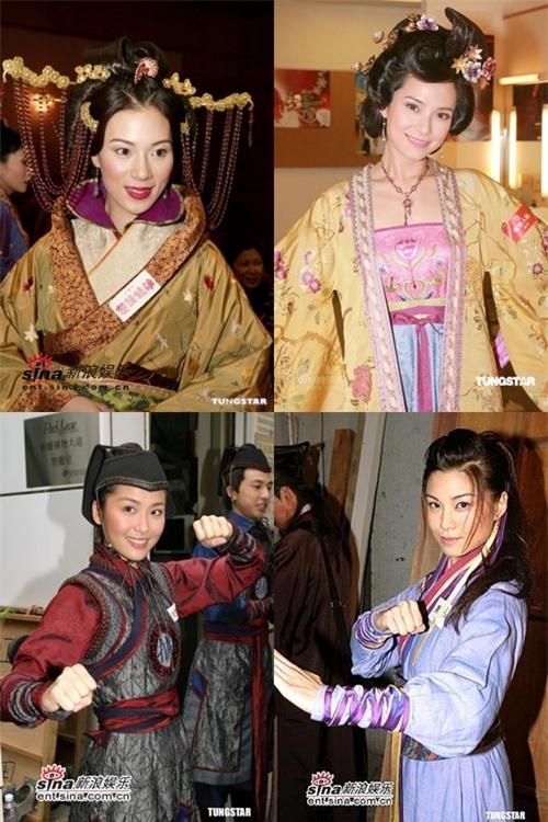 Bốn sao nữ TVB được cho là nhân vật Lê Diệu Tường ám chỉ (trái sang phải, trên xuống dưới): Trương Khả Di, Quách Thiện Ni, Châu Lệ Kỳ, Liêu Bích Nhi.