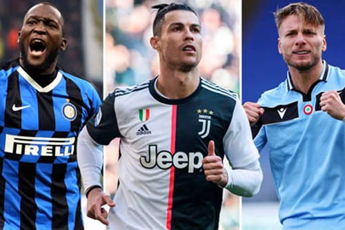 Vua phá lưới Serie A 2020/21: Ronaldo dễ bị Immobile và Lukaku qua mặt