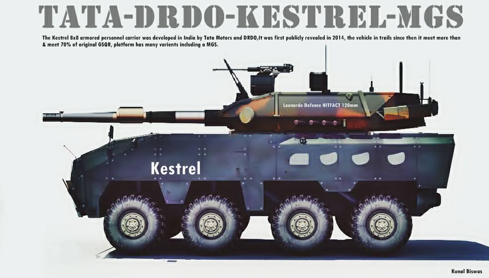 Ý tưởng về xe tăng bánh lốp tương lai của Quân đội Ấn Độ. Ảnh: Topwar.