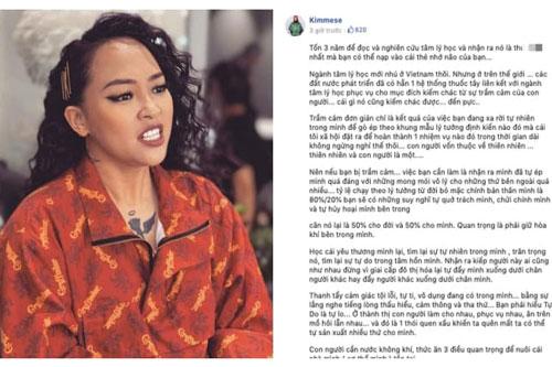 Rapper Kimmese gây tranh cãi dữ dội với quan điểm trị bệnh trầm cảm: 'Đừng dùng thuốc tây'