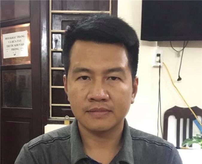 Nguyễn Phú Cường tại cơ quan công an (Ảnh: CAHN)
