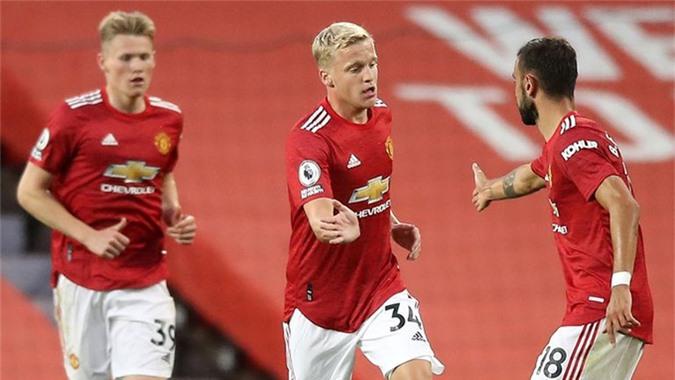 Bàn thắng của Van de Beek không đủ giúp M.U thoát thua trước Crystal Palace
