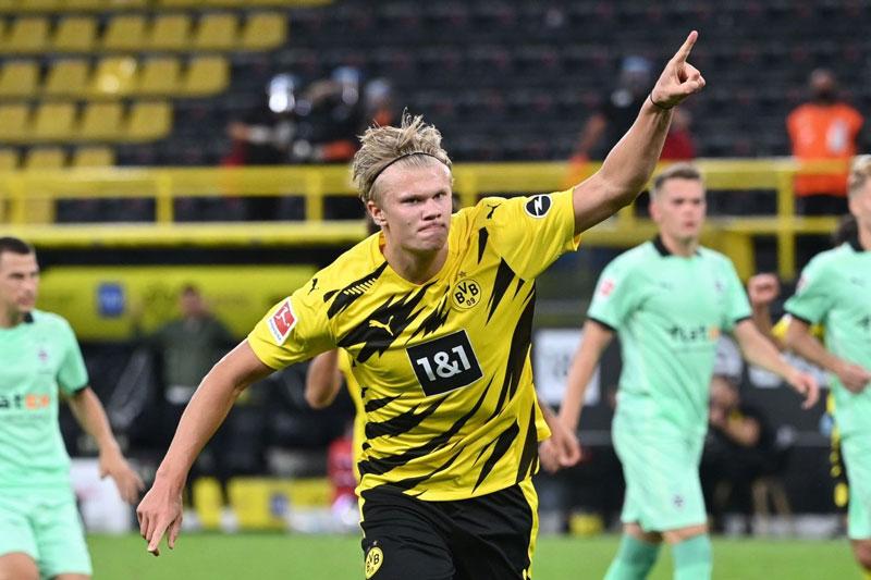 4. Erling Haaland (Borussia Dortmund, định giá chuyển nhượng: 72 triệu bảng).