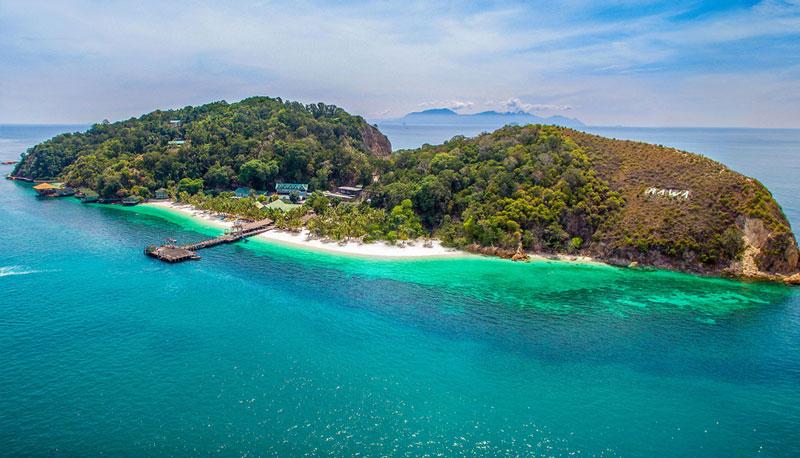 3. Bãi biển ở đảo Rawa, Malaysia.