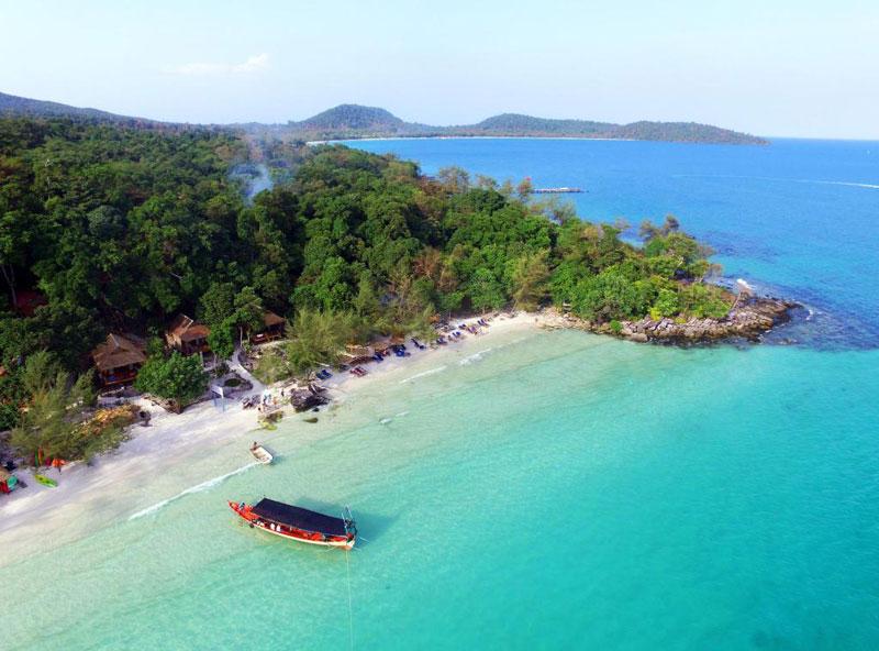 5. Bãi biển ở đảo Koh Rong, Campuchia.