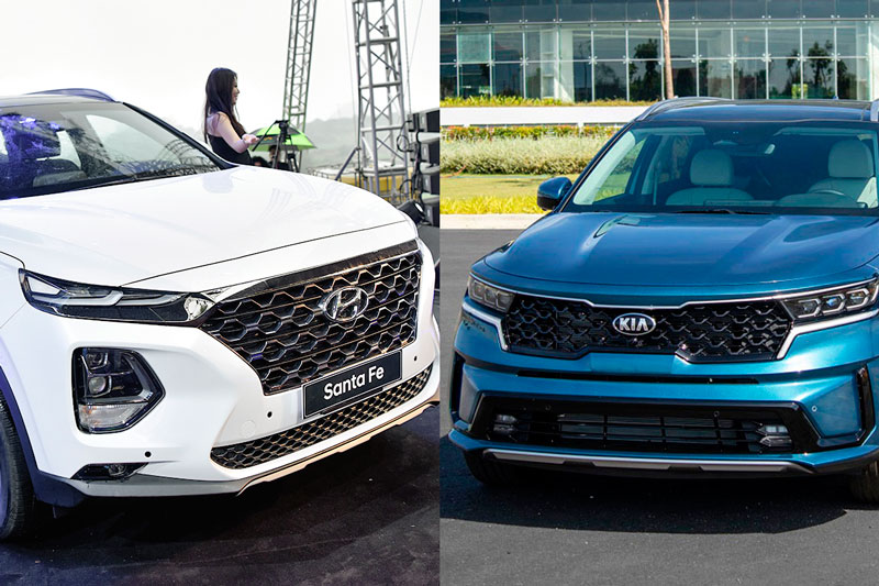So sánh Kia Sorento 2021 với Hyundai Santa Fe: Chọn SUV Hàn nào?