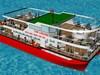 Đà Nẵng: Đóng mới tàu – nhà hàng nổi phục vụ gần 100 khách du ngoạn sông Hàn