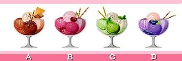 Bạn chọn ly kem nào?