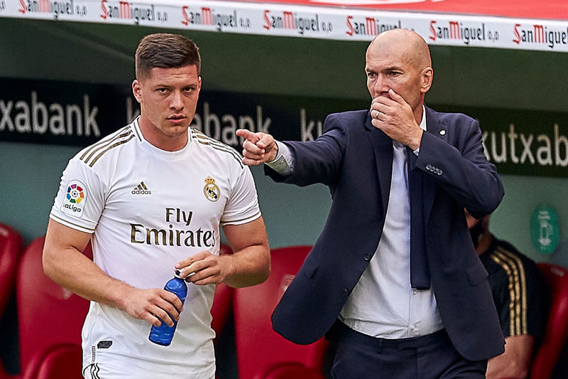 Jovic và HLV Zidane