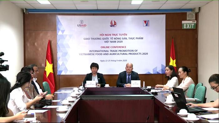 Hội nghị trực tuyến giao thương quốc tế nông sản, thực phẩm Việt Nam 2020.
