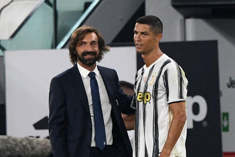 Pirlo và Ronaldo.