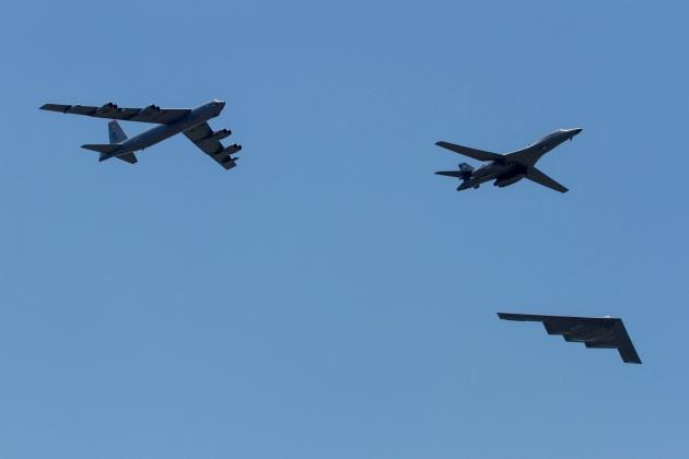 Bộ ba máy bay ném bom chiến lược của Mỹ. Ảnh: Avia-pro.