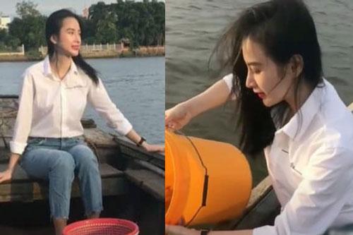 Angela Phương Trinh 'gây sốt' với góc nghiêng xinh 'động lòng người'
