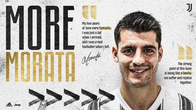Trang chủ Juventus thông báo chiêu mộ thành công Morata
