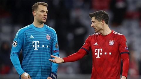 Lewandowski và Neuer sáng cửa giành danh hiệu Cầu thủ xuất sắc nhất UEFA