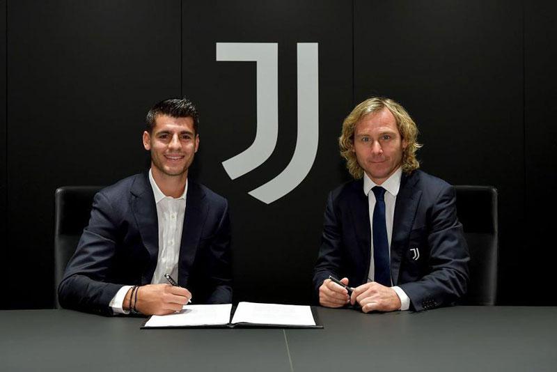 Morata tái gia nhập Juve.