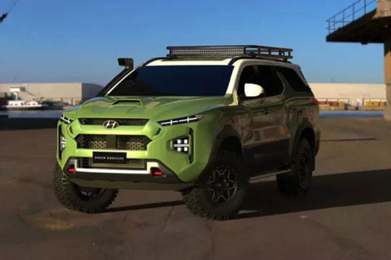 Hyundai sắp có mẫu SUV đối đầu với Toyota Land Cruiser.