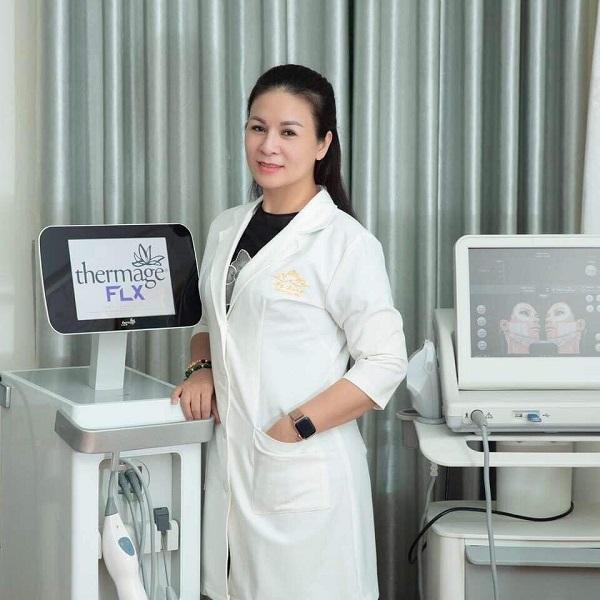 Lương Thị Mỹ Dung, bà chủ của thương hiệu chăm sóc sắc đẹp ở Quảng Bình.