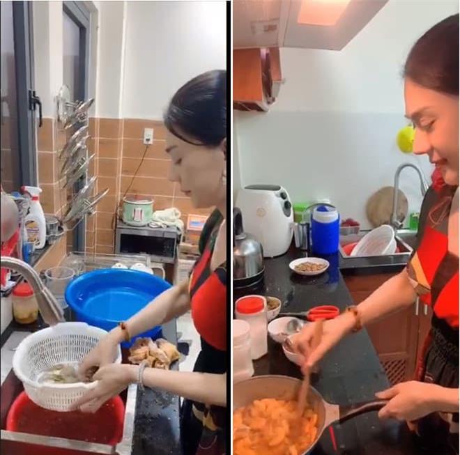 Lâm Khánh Chi nấu ăn 0