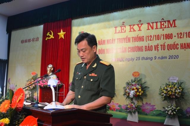 Thượng tá, PGS, TS Ninh Đức Hà, Viện trưởng Viện Hóa học-Vật liệu