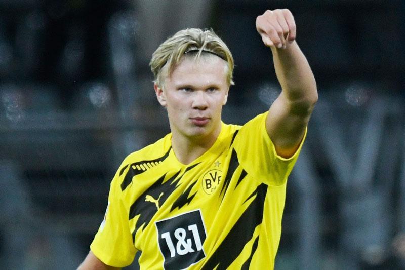 =6. Erling Haaland (Dortmund, 20 tuổi, định giá chuyển nhượng: 72 triệu bảng).