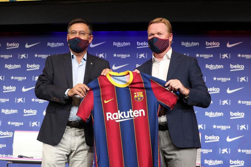 Chỉ sau 1 tháng, HLV Koeman đã mất niềm tin vào BLĐ Barca