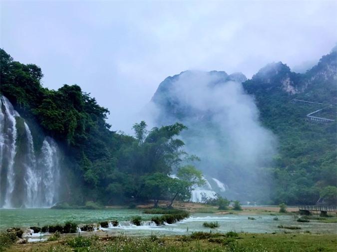 Một bối cảnh của phim Kiều ở Cao Bằng.