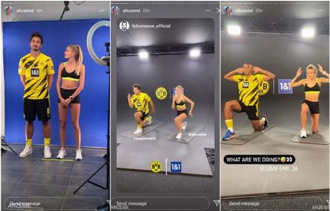Alicia hướng dẫn tập luyện cho dàn sao Dortmund