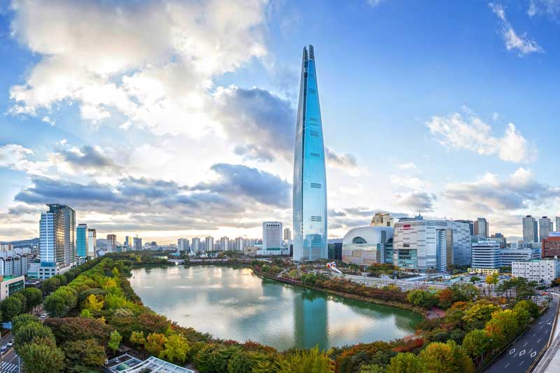 3. Tháp Lotte World (Hàn Quốc) - 123 tầng.