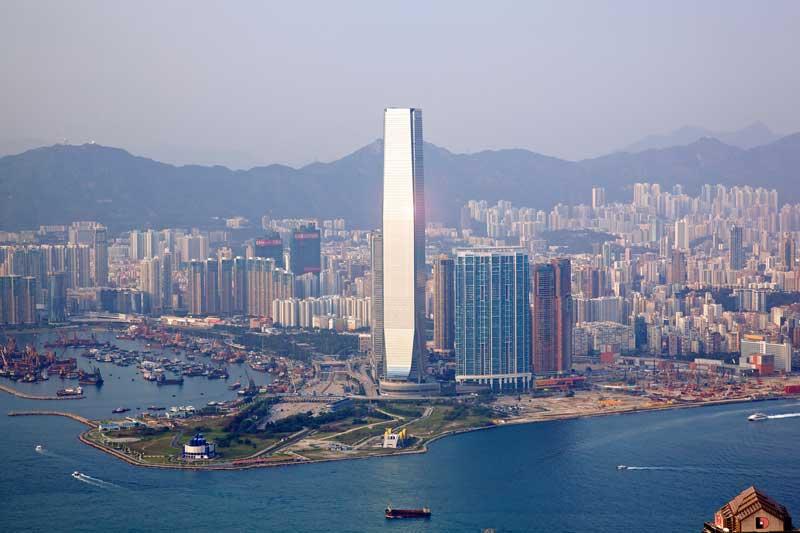 5. Trung tâm thương mại quốc tế (Hồng Kông, Trung Quốc) - 118 tầng.