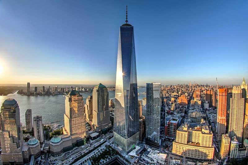 9. Trung tâm Thương mại Thế giới Một (Mỹ) - 104 tầng.