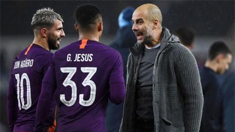 HLV Guardiola mất hết trung phong sau khi Aguero và Jesus lần lượt dính chấn thương