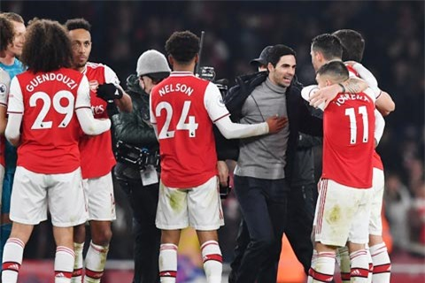 Dưới thời HLV Arteta, Arsenal đã không còn sợ những trận đại chiến