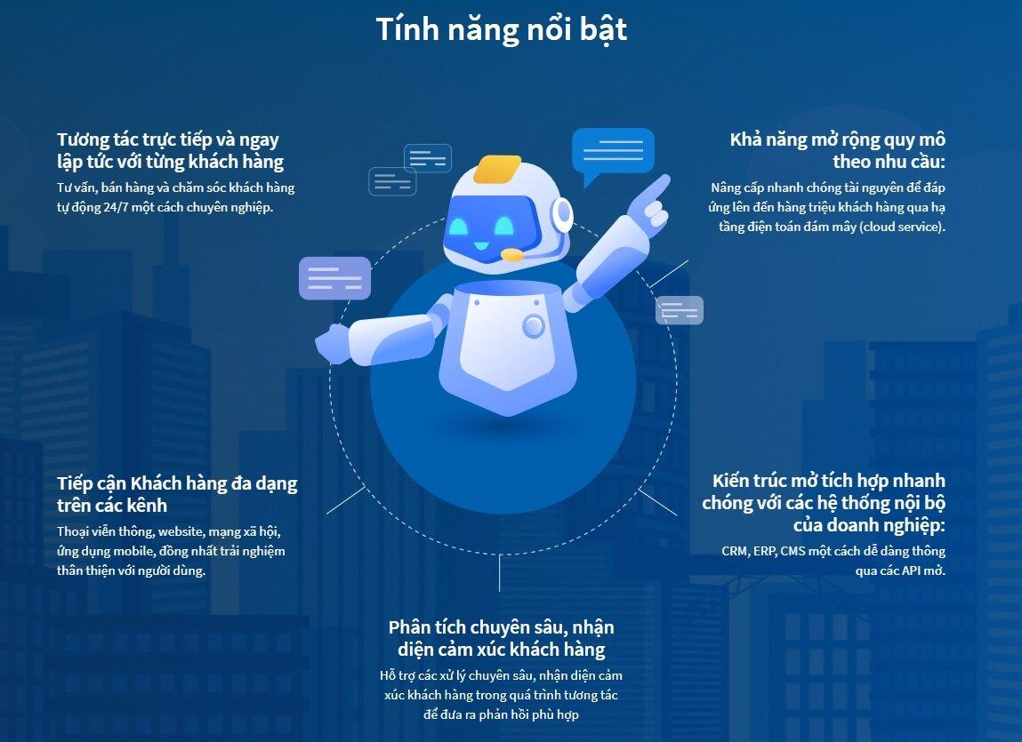 tính đổi mới khác biệt của Viettel Cyberbot là kết hợp được các công nghệ xử lý giọng nói với công nghệ xử lý ngôn ngữ tự nhiên tiếng Việt cùng một lúc