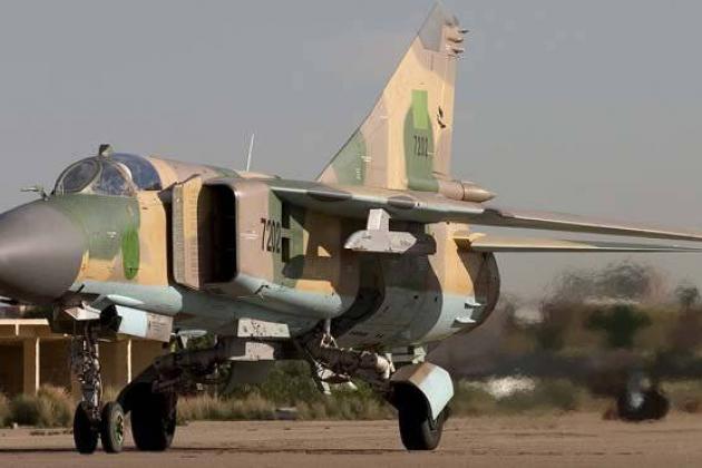 Không quân LNA bất ngờ có thêm số lượng lớn tiêm kích MiG-23. Ảnh: Al Masdar News.