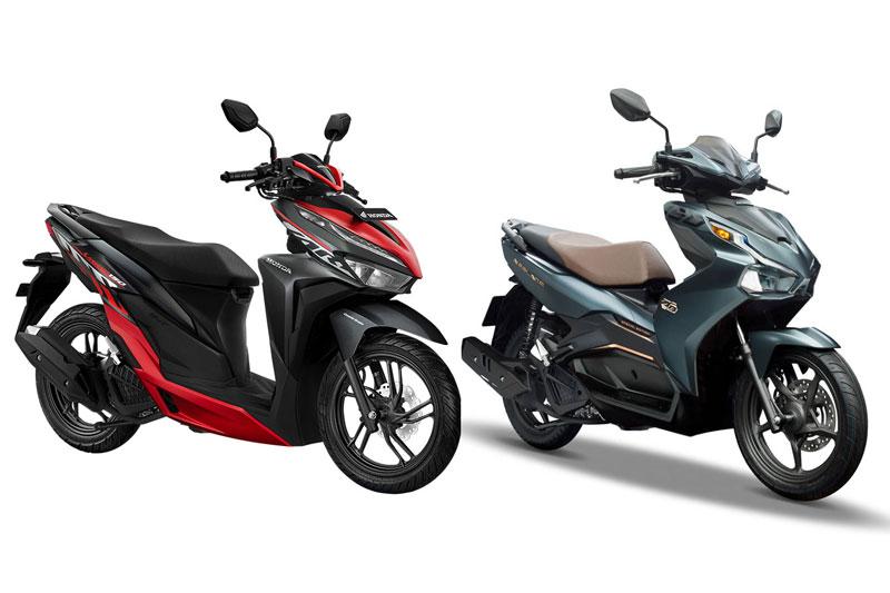 Honda Vario 2020 (trái) và Honda Air Blade 2020.