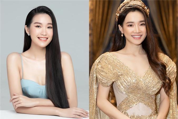 Ở vòng online, Doãn Hải My (trái) được nhận xét giống diễn viên Nhã Phương.