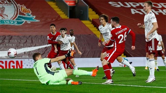 Liverpool tỏ ra quá mạnh so với Arsenal