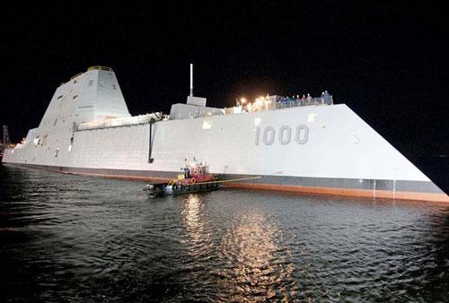 Khu trục hạm tàng hình Zumwalt của hải quân Mỹ 'sống lại' nhờ đạn siêu tốc