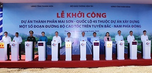 Khởi công Dự án thành phần cao tốc Bắc - Nam đoạn Mai Sơn - Quốc lộ 45
