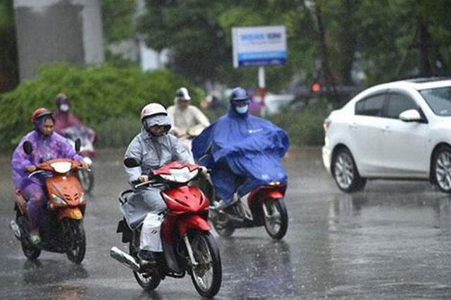 Bắc Bộ chiều tối mưa dông, Tây Nguyên mưa giảm