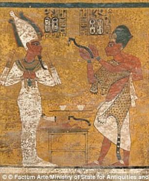 Một phần bức tượng trong hầm mộ Tutankhamun. Ảnh: Kiến Thức