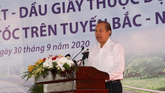 Phó thủ tướng Trương Hòa Bình tuyên bố khởi công dự án.