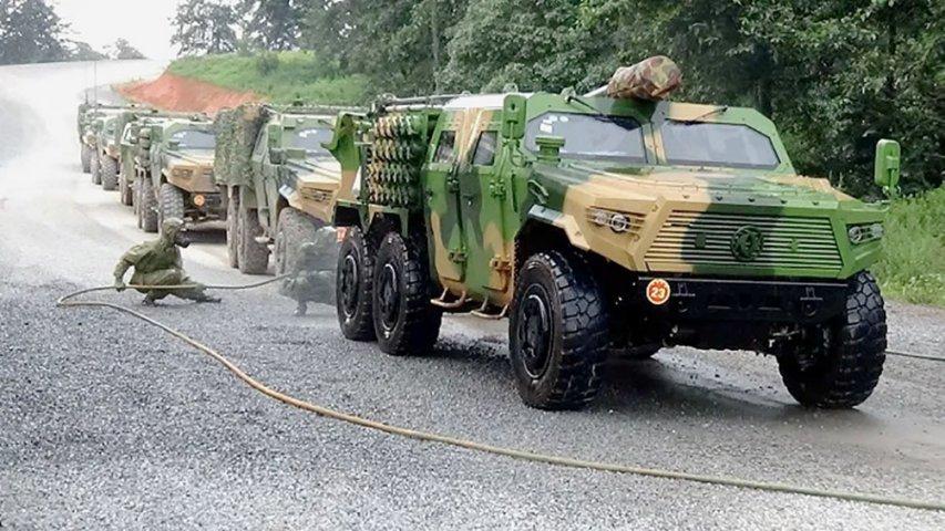 Pháo tự hành hạng nhẹ CTL-181A cỡ 122 mm thế hệ mới của Trung Quốc. Ảnh: China Military.