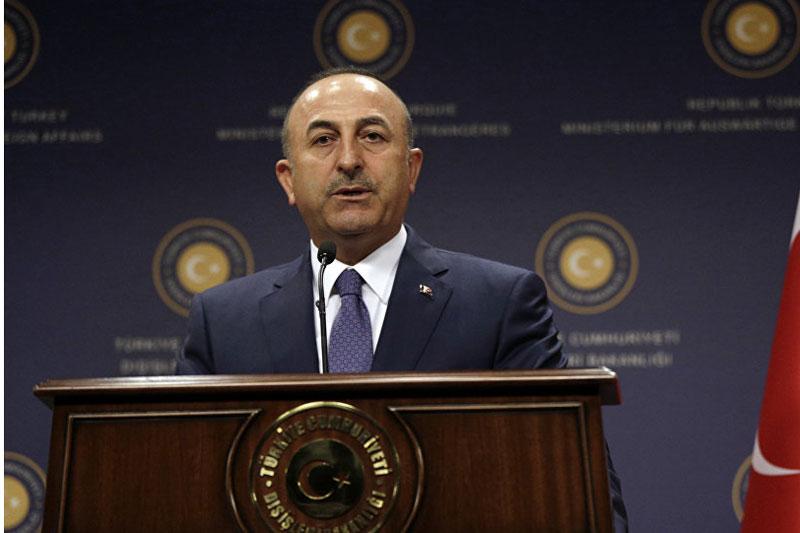 Bộ trưởng Ngoại giao Thổ Nhĩ Kỳ Mevlut Cavusoglu, ngày 5/6/2017 (Ảnh theo AP Photo / Burhan Ozbilic)