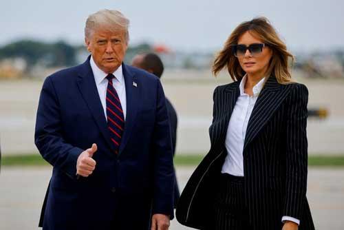 Tổng thống Trump và vợ Melania. Ảnh: Reuters.