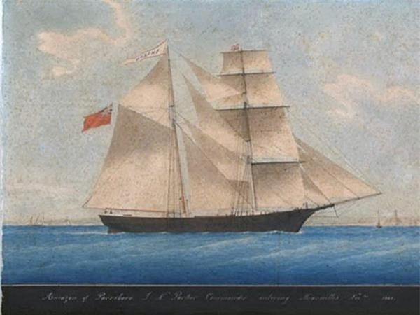 Tàu Mary Celeste. Ảnh: Internet