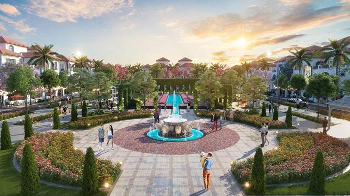 Công viên Gardenia nằm gần kề phân khu Mallorca - Sun Grand City Feria.